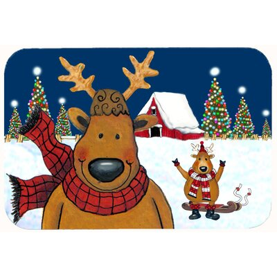 The Tree Famers Reindeer Christmas Kitchen/Bath Mat Size: 24