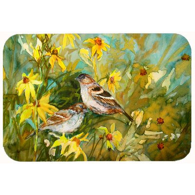 Sparrows in the Field Kitchen/Bath Mat Size: 24 W x 36 L