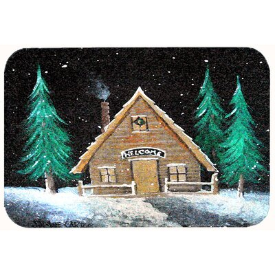 Welcome Lodge Christmas Log Home Kitchen/Bath Mat Size: 20 W x 30 L