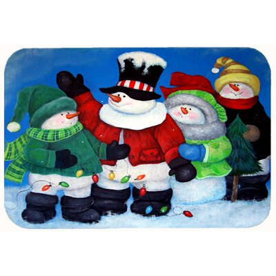 The Light Brigade Snowman Kitchen/Bath Mat Size: 24 W x 36 L