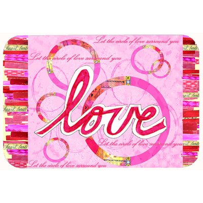 Love is a Circle Valentines Day Kitchen/Bath Mat Size: 20 W x 30 L
