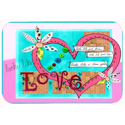 Looks Like I Love You Valentines Day Kitchen/Bath Mat Size: 24 W x 36 L