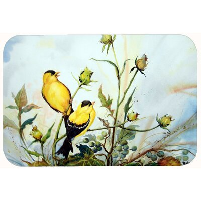 Joyful Morning Birds Kitchen/Bath Mat Size: 20 W x 30 L