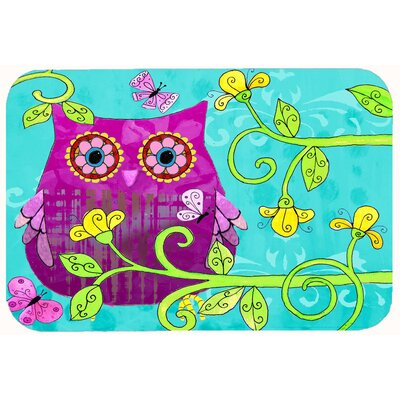 Sittin in the Flowers Owl Kitchen/Bath Mat Size: 20 W x 30 L