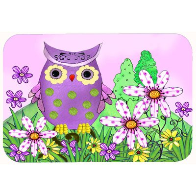 Who is Your Friend Owl Kitchen/Bath Mat Size: 24 W x 36 L