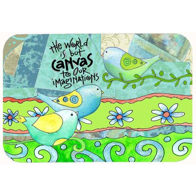 The World is but a Canvas to our Imagination Kitchen/Bath Mat Size: 24 W x 36 L