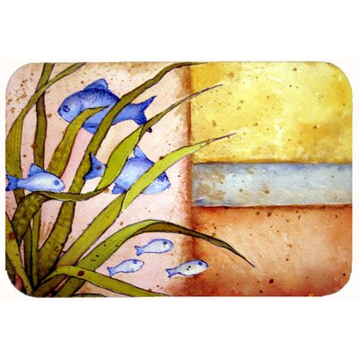 Message From The Sea Fishes Kitchen/Bath Mat Size: 24 W x 36 L