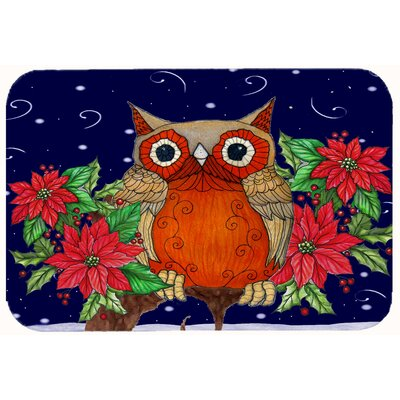 Whose Happy Holidays Owl Kitchen/Bath Mat Size: 24 W x 36 L