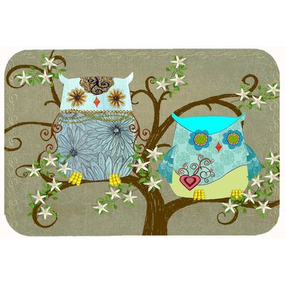 The Friendly Ladies Owl Kitchen/Bath Mat Size: 24 W x 36 L