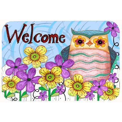 Welcome Owl Kitchen/Bath Mat Size: 24