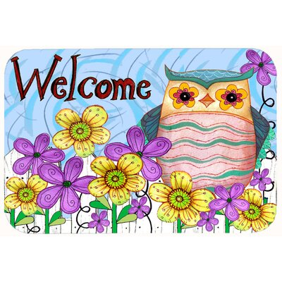Welcome Owl Kitchen/Bath Mat Size: 20