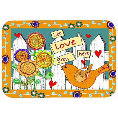 Let Love Grow Here Kitchen/Bath Mat Size: 24 W x 36 L