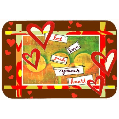 Let Love Guide Your Heart Valentines Day Kitchen/Bath Mat Size: 24 W x 36 L
