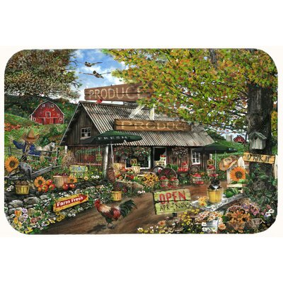 The Produce Fruit Stand Kitchen/Bath Mat Size: 20 W x 30 L