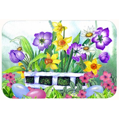 Finding Easter Eggs Kitchen/Bath Mat Size: 24 W x 36 L