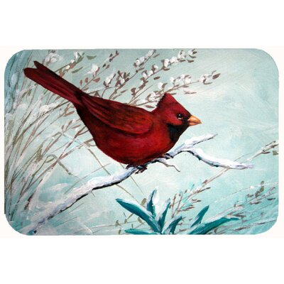 Cardinal Winter Bird Kitchen/Bath Mat Size: 24 W x 36 L