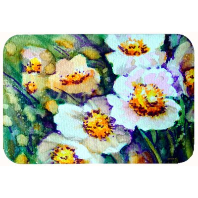 Raindrops on Poppies Kitchen/Bath Mat Size: 24 W x 36 L