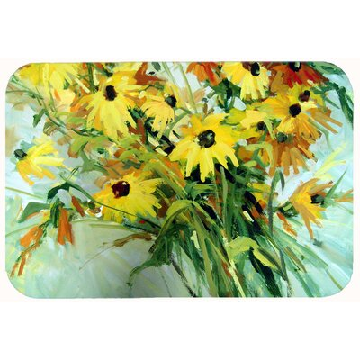 Wildflower Bouquet Flowers Kitchen/Bath Mat Size: 24 W x 36 L