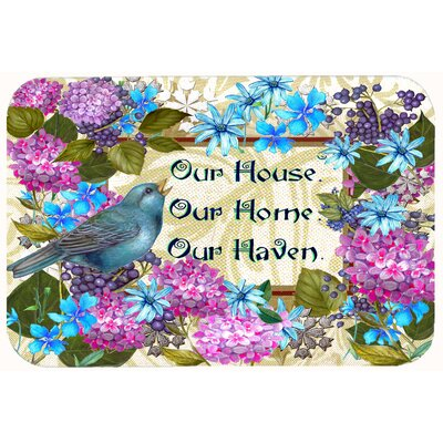 Our House Our Home Our Haven Kitchen/Bath Mat Size: 24 W x 36 L