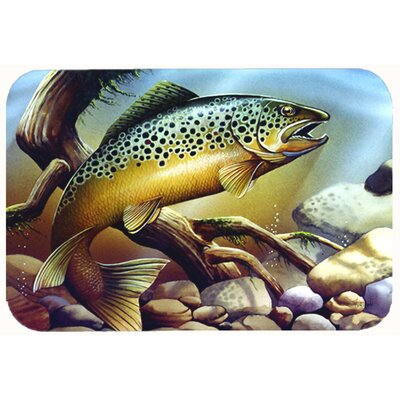 Brook Trout Kitchen/Bath Mat Size: 24 W x 36 L