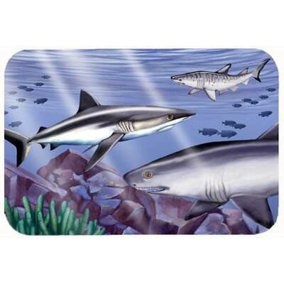 Sharks Kitchen/Bath Mat Size: 24 W x 36 L