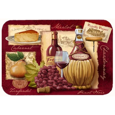 Wine and Cheese Kitchen/Bath Mat Size: 24 W x 36 L