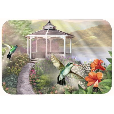 Garden Gazebo Hummingbird Duo Kitchen/Bath Mat Size: 24 W x 36 L