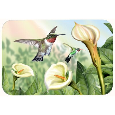 Lily and the Hummingbirds Kitchen/Bath Mat Size: 24 W x 36 L