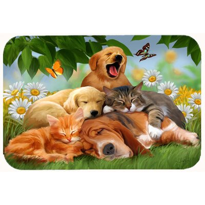 Retriever, Labrador and Basset Hound Sleepy Heads Kitchen/Bath Mat Size: 24 W x 36 L