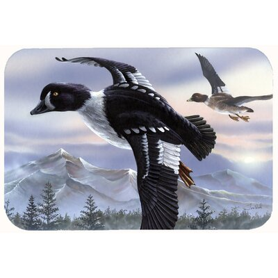 Goldeneye Ducks Flying Kitchen/Bath Mat Size: 24 W x 36 L