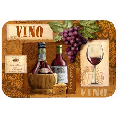 Vino Wine Kitchen/Bath Mat Size: 24 W x 36 L