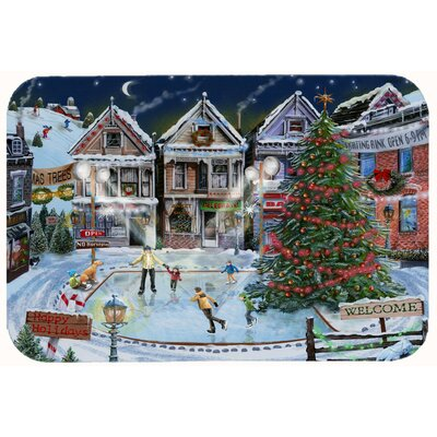 Christmas Family Skate Night Kitchen/Bath Mat Size: 24 W x 36 L