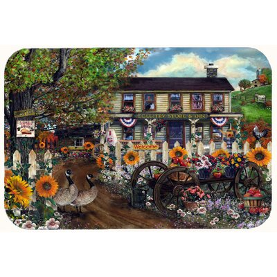 Sunflowers and The Old Country Store Kitchen/Bath Mat Size: 24 W x 36 L