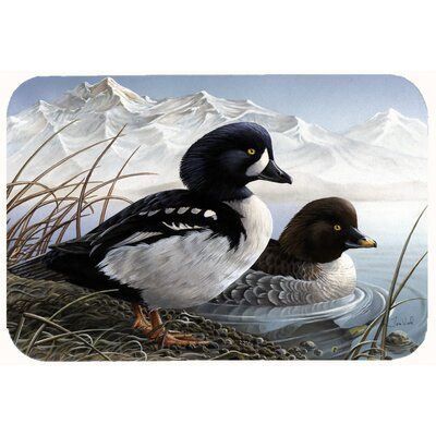 Goldeneye Ducks in the Water Kitchen/Bath Mat Size: 24 W x 36 L