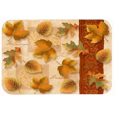 Fall Autumn Leaves Kitchen/Bath Mat Size: 24 W x 36 L