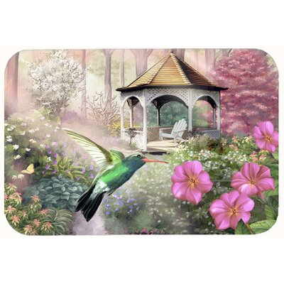 Garden Gazebo Hummingbird Kitchen/Bath Mat Size: 24 W x 36 L