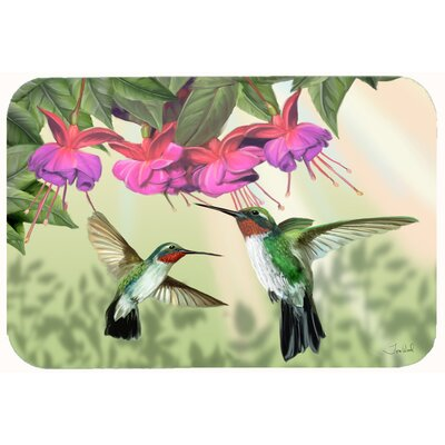 Fuchsia and Hummingbirds Kitchen/Bath Mat Size: 24 W x 36 L