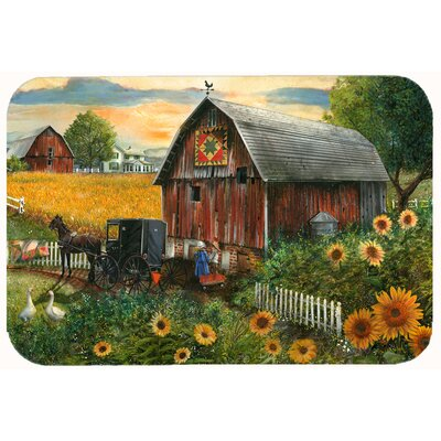 Landon Sunflower Country Paradise Barn Kitchen/Bath Mat Size: 24 W x 36 L