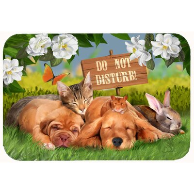 Retriever and Sharpei Do Not Disturb Kitchen/Bath Mat Size: 24 W x 36 L