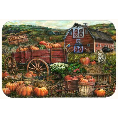 Pumpkin Patch and Fall Farm Kitchen/Bath Mat Size: 24 W x 36 L