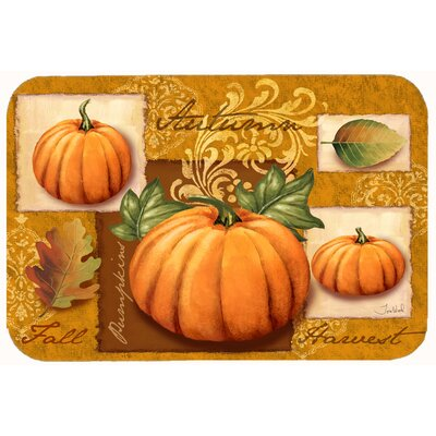 Fall Harvest Pumpkins Kitchen/Bath Mat Size: 24 W x 36 L