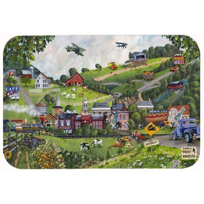 Small Town USA Kitchen/Bath Mat Size: 24 W x 36 L