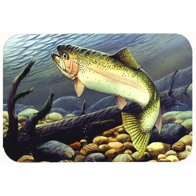 Rainbow Trout Kitchen/Bath Mat Size: 24 W x 36 L