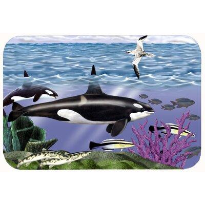 Whale Orcas Kitchen/Bath Mat Size: 24 W x 36 L
