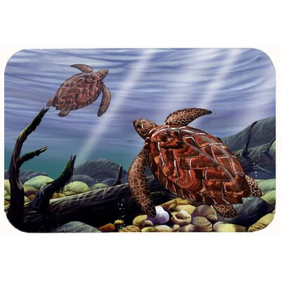 Sea Turtles Kitchen/Bath Mat Size: 24 W x 36 L