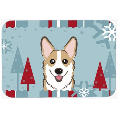 Corgi Kitchen/Bath Mat Size: 24 W x 36 L, Color: Sable