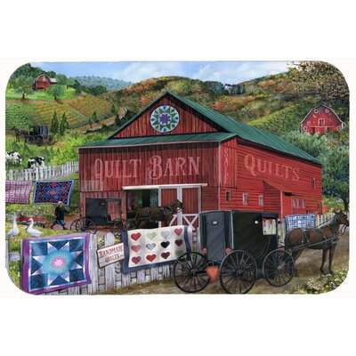 The Quilt Barn Kitchen/Bath Mat Size: 24 W x 36 L