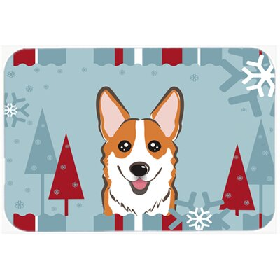 Corgi Kitchen/Bath Mat Size: 24 W x 36 L, Color: Tan