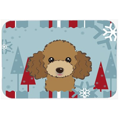 Poodle Kitchen/Bath Mat Size: 20 W x 30 L, Color: Chocolate/Brown
