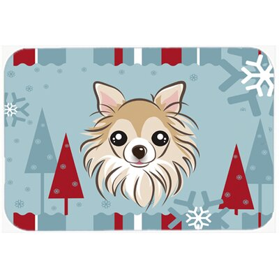 Winter Holiday Chihuahua Kitchen/Bath Mat Size: 20 W x 30 L